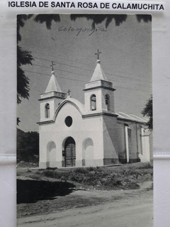 Antigua Postal Iglesia Santa Rosa De Calamuchita Córdoba