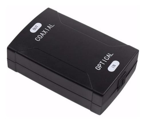 Conversor De Audio Otico Para Coaxial Digital + Cabo Óptico
