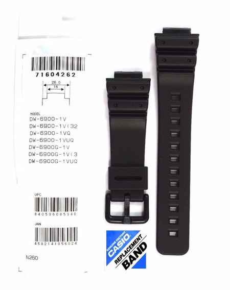 Pulseira Original Do Relógio Casio G-shock Dw-6900 1v