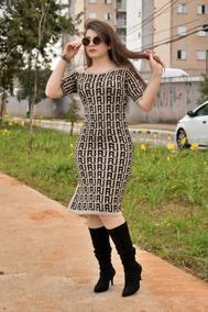 Vestido Tubinho Em Lã Moda Evangélica Feminino Karen