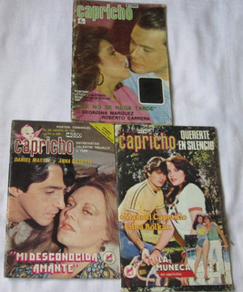 Capricho, Lote De 3 Fotonovelas. Manuel Capetillo,