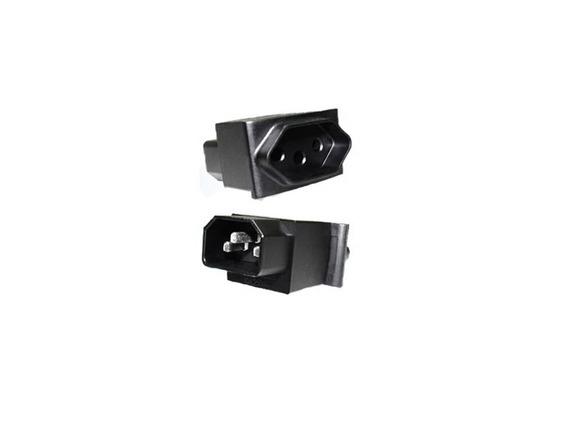 Kit C/5 Adaptadores De Con Iec320 C14 Para Tomada Nbr 14136