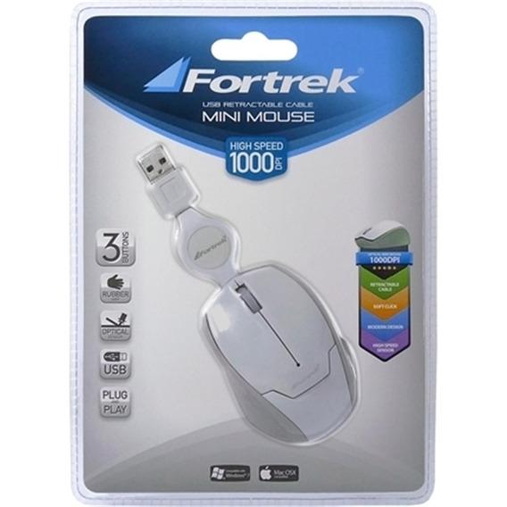 Mini Mouse Retratil Usb Fortrek