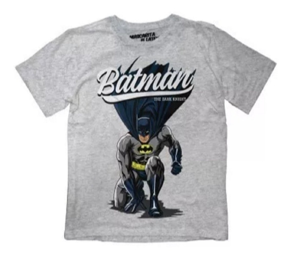 Playera Mascara De Latex The Batman Mldc Niño