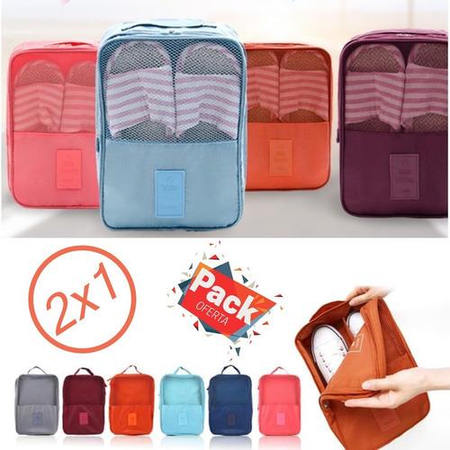 Imagen 1 de 6 de 2x1 Porta Zapatos De Viaje Individual Travel Shoes Multiusos