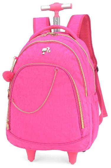 Mochila Escolar Barbie C/ Rodinhas Luxcel Mc51230
