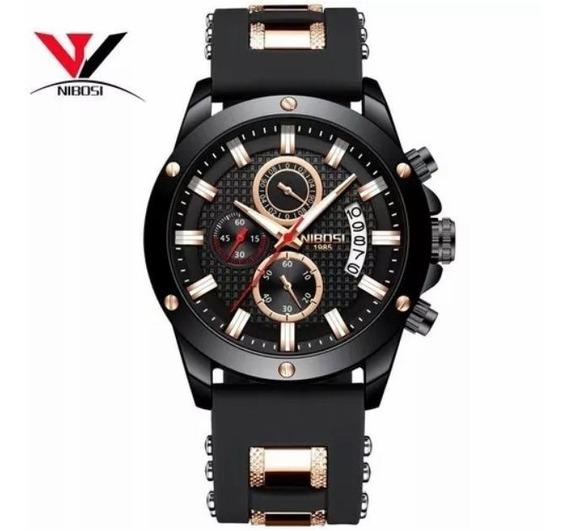 Relógio Masculino De Luxo Nibosi 2333 Analógico A Prova D Ág