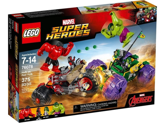 Lego Super Héroes Hulk Vs Red Hulk 375 Piezas 76078 Original