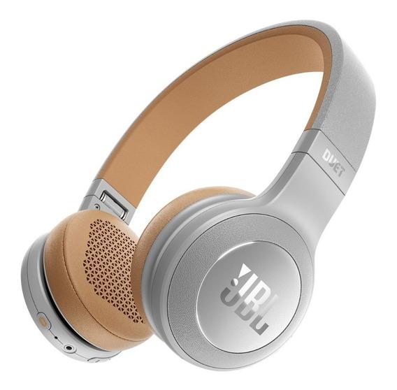 Fone De Ouvido Jbl Duet Bt Bluetooth Cinza/ Dourado