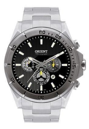 Relógio Orient Masculino Prata Multfunção,cronógrafo R