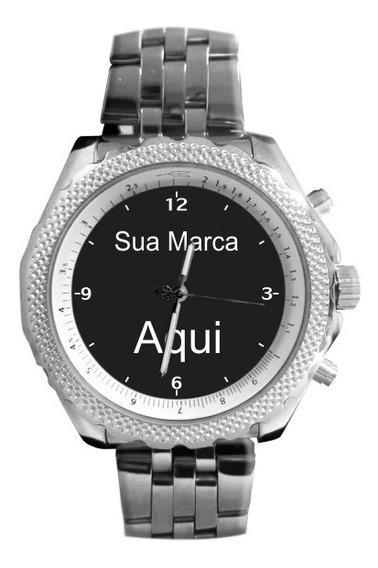 Relógio Com Logo Sua Marca Aqui Foto Imagem 5276