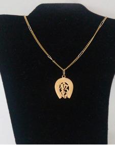 Cordão Em Ouro 18k 750 + Pingente Ferradura Com 10,75 Grs.