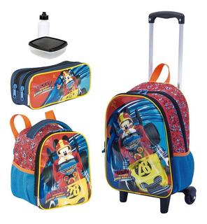Kit Mochila Infantil Mickey 3d Lancheira Estojo Sestini