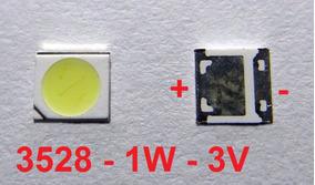 Kit 50 Chip Super Power Led 1w 3v 3528 Branco Frio - M.e