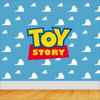 80 Adesivos De Parede Nuvens Toy Story Disney Decorativo