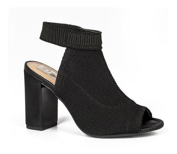 Sandália Dakota Z3662 Malha Feminina Elástico Preto