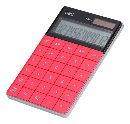 Imagen 1 de 4 de Calculadora Deli E1589 Rosada