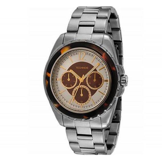 Relógio Feminino Technos 6p29ij/1m Aço Inox Analógico Multif