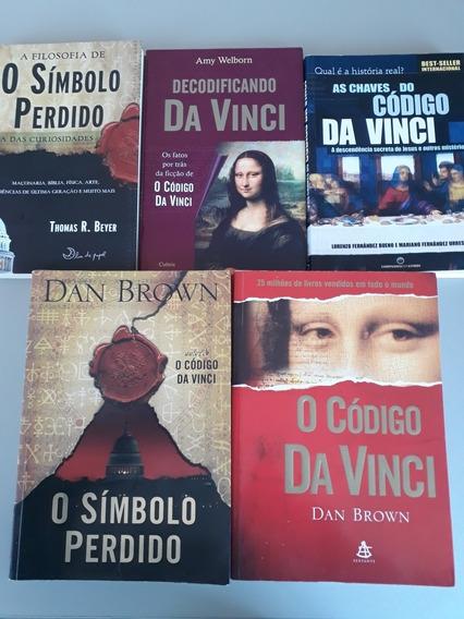 Livros Dan Brown Símbolo Perdido + Código Da Vinci -kit C/ 5