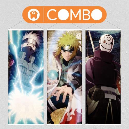 Imagen 1 de 6 de Lonas De Naruto Kakashi Minato Madara  - Animeras