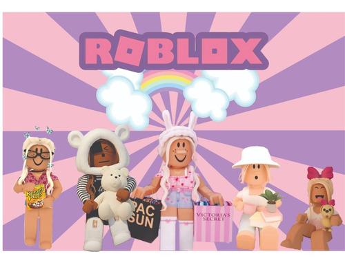 Imagem 1 de 2 de Kit Festa Roblox 1 Painel Poli Banner