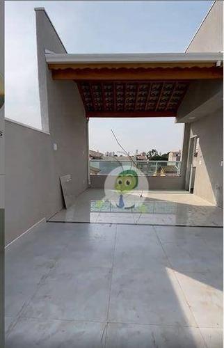 Imagem 1 de 14 de Cobertura Com 2 Dormitórios À Venda, 90 M² Por R$ 380.000,00 - Vila Pires - Santo André/sp - Co0358