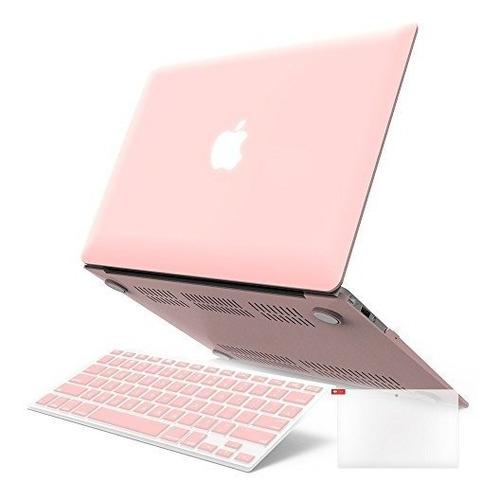 Estuche Y Protector Para Macbook A1466 A1369 Rosado