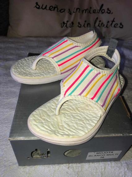 Sandalia Neoprene Multicolor Nena Talle 26 Diez Indiecitos