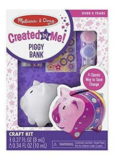 Melissa Y Doug Decorateyourown Piggy Bank Craft Kit