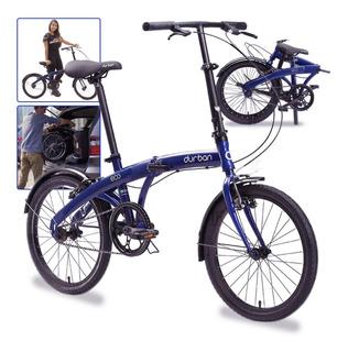 Bicicleta Dobrável Aro 20 Azul Eco Quadro De Aço