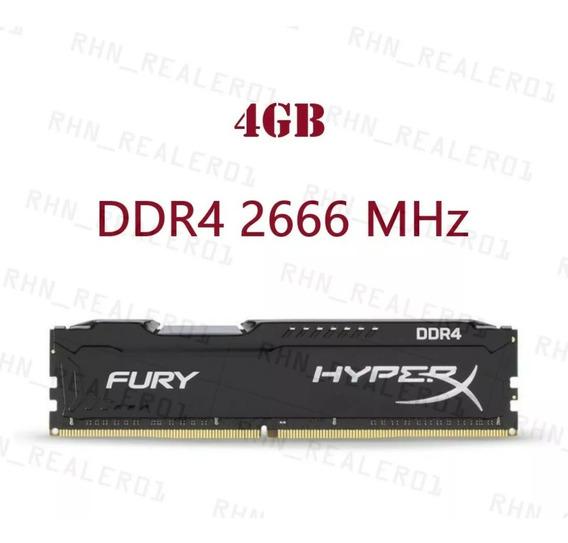Memória Ram Kingston Hyperx Fury 4 Gb 2666 Mhz Ddr4