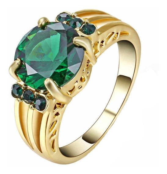 Anel Feminino Vazado Pedra Cristal Esmeralda Verde Beleza Natural Cor Serenidade Dia Mulher Presente Aniversário 998