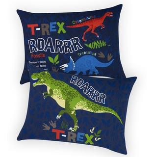 Almohada Dinosaurios Standar Con Cierre Dos Vistas