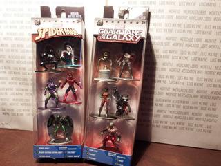 Set 10 Figuras Marvel Spiderman Nano Metalfigs Jada Groot