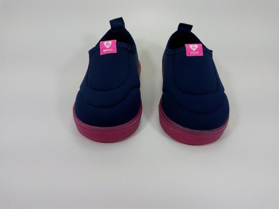 Tênis Casual Neoprene Molekinha Marinho/pink 2118525