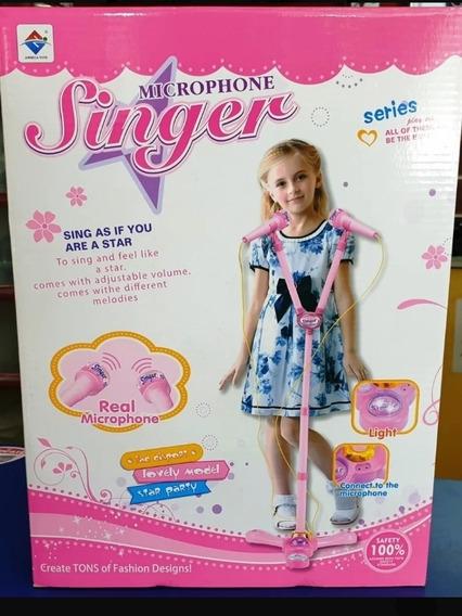 Micrófono Musical Para Niñas Con Luces Y Cornetas Cod
