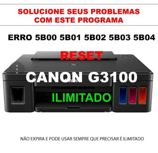 Reset Canon G1000 G2000 G3000 G1100 G2100 G3100 G3102 G3105