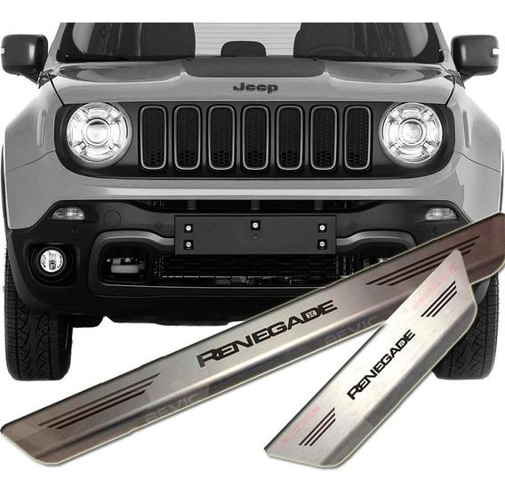 Jeep Renegade Kit Cubre Zocalos Originales Ac. Inoxidable