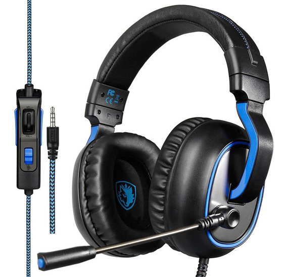 Sades R4 Gaming Headset 3.5mm Stereo Over-ear Headphone Com