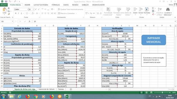 Planilha Para Cálculo De Sapatas De Divisa