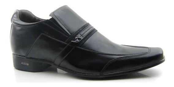 Sapato Sandalo Preto Com Elevação Up 7cm