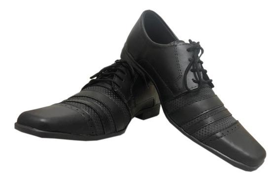 Sapato Masculino Social Fosco Cadarço Casual Eleganci