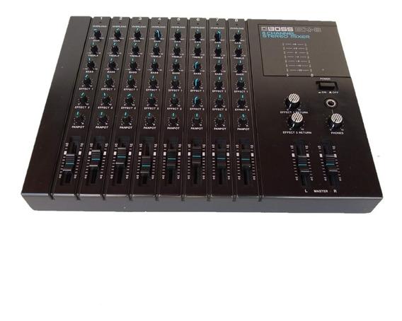 Mesa De Som Mixer 8 Canais Com Effeitos Boss Bx-8