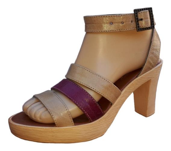 Sandalias De Cuero Para Mujer