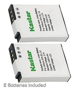 Kastar De La Bateria (2-pack) Para Nikon Enel12 Enel12 Mh-65