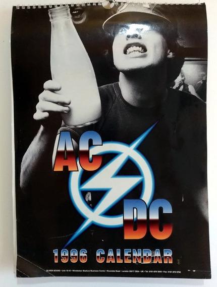 Calendário Ac Dc 1996 Inglês