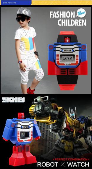 Relógio Brinquedo Robô Transformers Mega Promoção