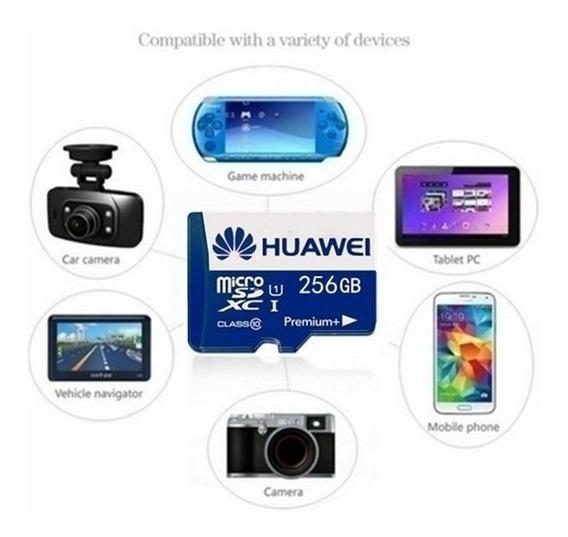 Cartão Memória 256 Gb Huawei Micro Sd Para Celular + Brinde