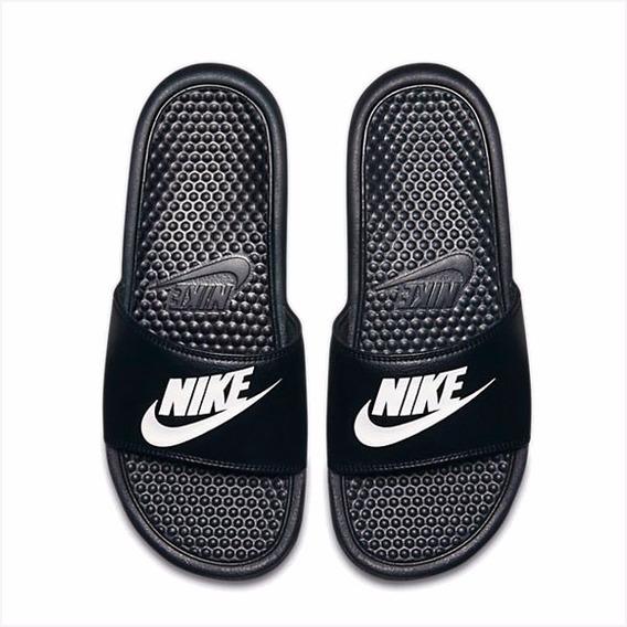 Nike Benassi Jdi - Negro Y Blanco