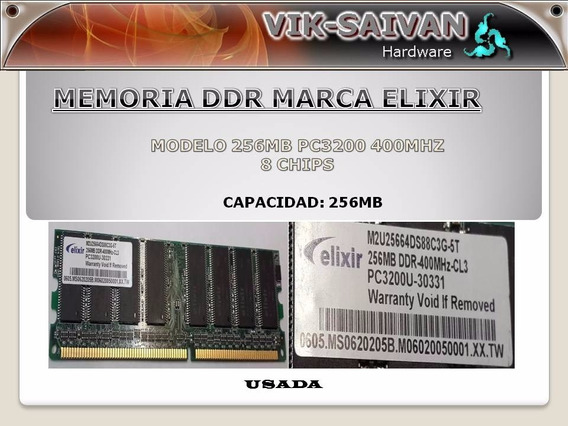 Memoria Ddr Elixir 256mb Pc-3200 400mhz 8 Chips 19